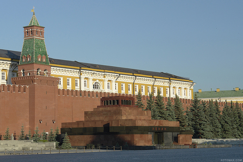 This is mausoleum.  Incide there is a body of Vladimir Ulianov, known as Lenin.